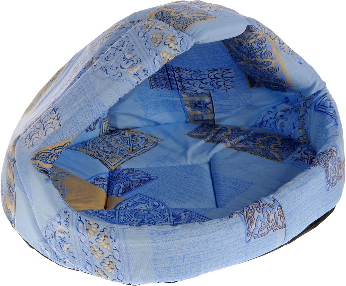 """Лежак для животных Elite Valley """"Лукошко"""", цвет: голубой, бежевый, 50 х 42 х 40 см. Л-13/3"""