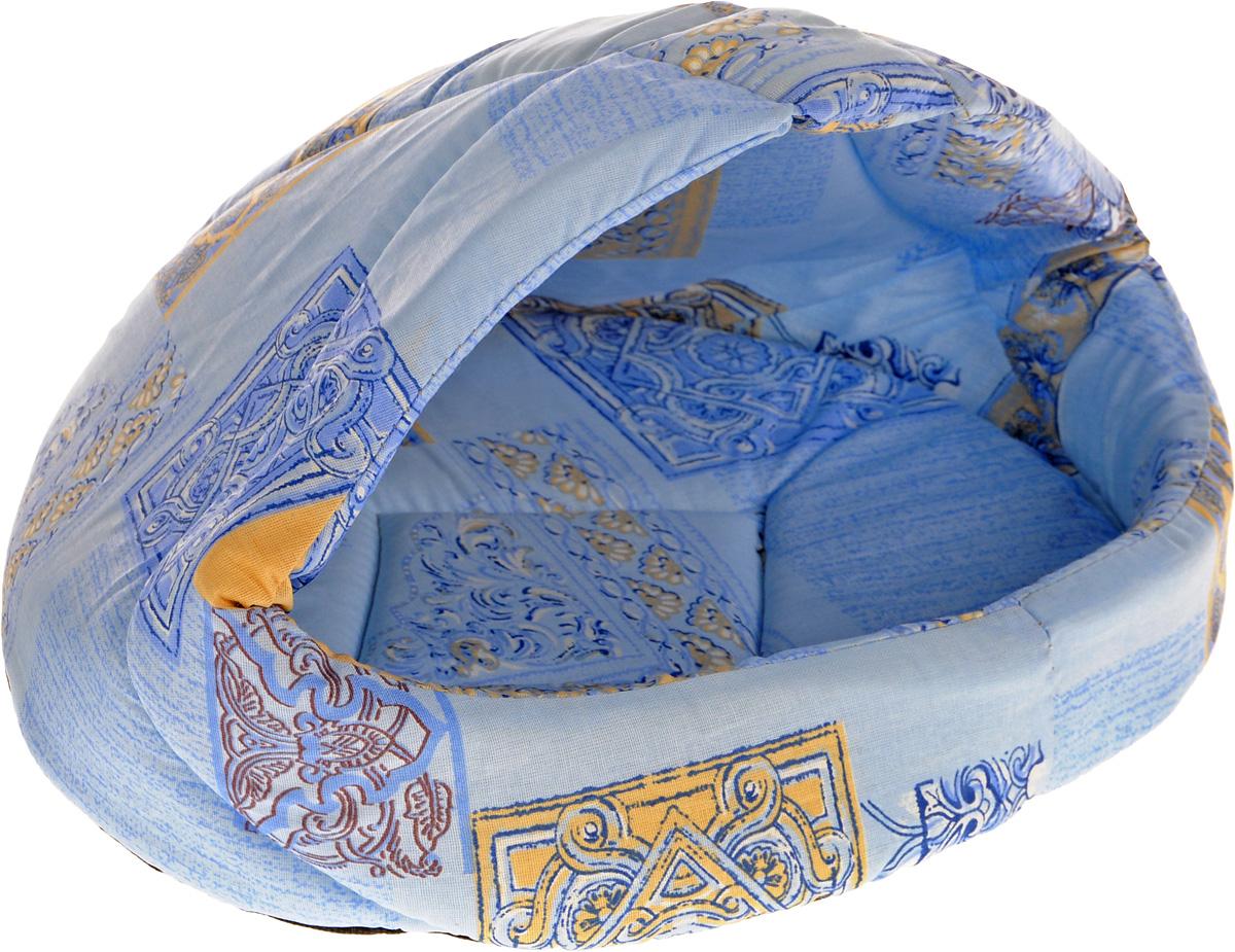 Лежак для животных Elite Valley Лукошко, цвет: голубой, бежевый, 45 х 35 х 34 см. Л-13/2Л-13/2_голубой, бежевыйЛежак Elite Valley Лукошко непременно станет любимым местом отдыха вашего домашнего животного. Изделие выполнено из бязи и нетканого материала, а наполнитель - из поролона. Такой материал не теряет своей формы долгое время. Внутри имеется мягкая съемная подстилка.На таком лежаке вашему любимцу будет мягко и тепло. Он подарит вашему питомцу ощущение уюта и уединенности, а также возможность спрятаться.
