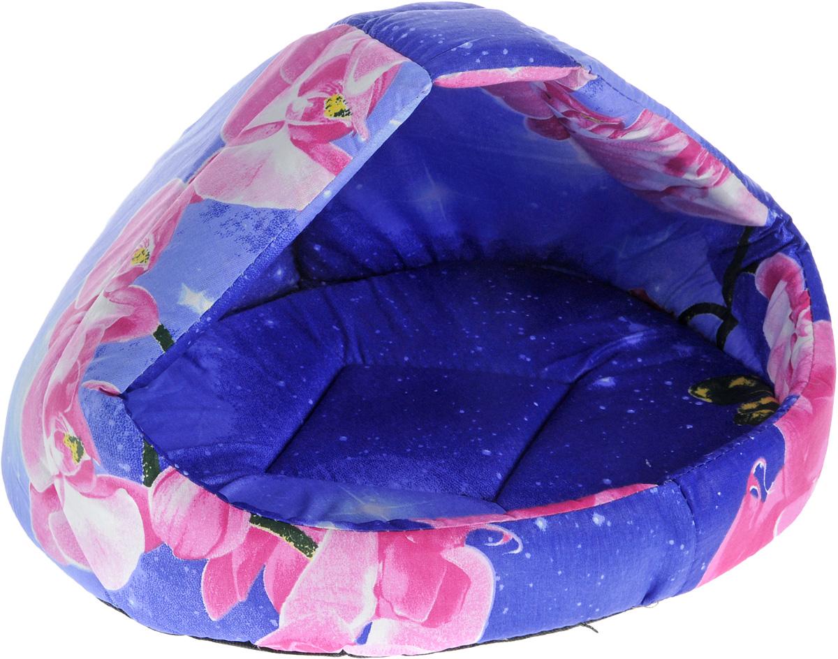 """Лежак для животных Elite Valley """"Лукошко"""", цвет: синий, розовый, 50 х 42 х 40 см. Л-13/3"""