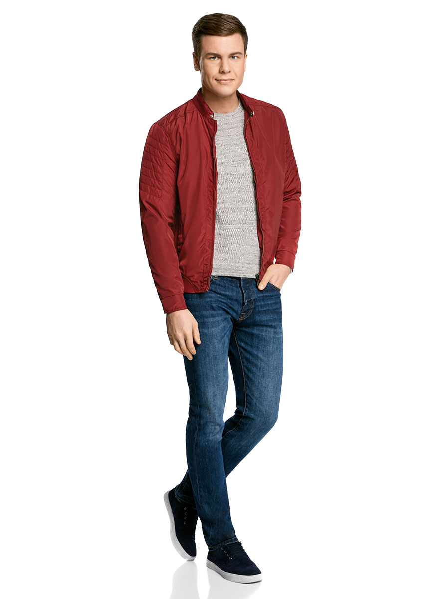 Куртка мужская oodji Lab, цвет: красный. 1L511047M/46343N/4500N. Размер XXL-182 (58/60-182) платье oodji collection цвет красный 24007026 37809 4500n размер l 48