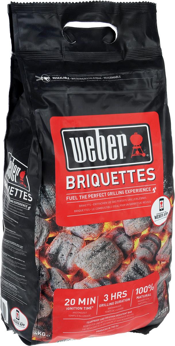 Брикеты угольные Weber, 4 кг труба стартер для разжигания угля weber