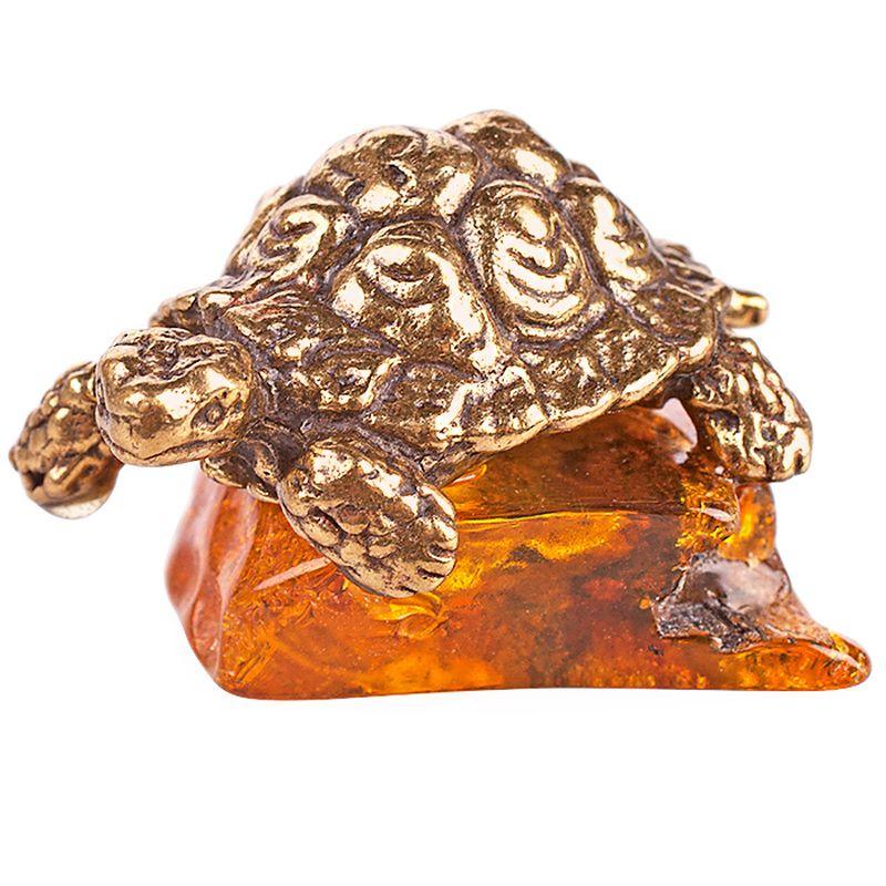 Фигурка декоративная Гифтман Черепашка, янтарь. Ручная работа.5214552145Фигура на янтаре