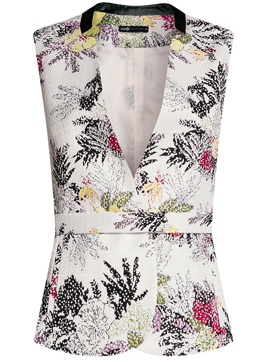 Купить Жилет женский oodji Collection, цвет: светло-розовый. 22301020-8/45367/4047F. Размер 42-170 (48-170)