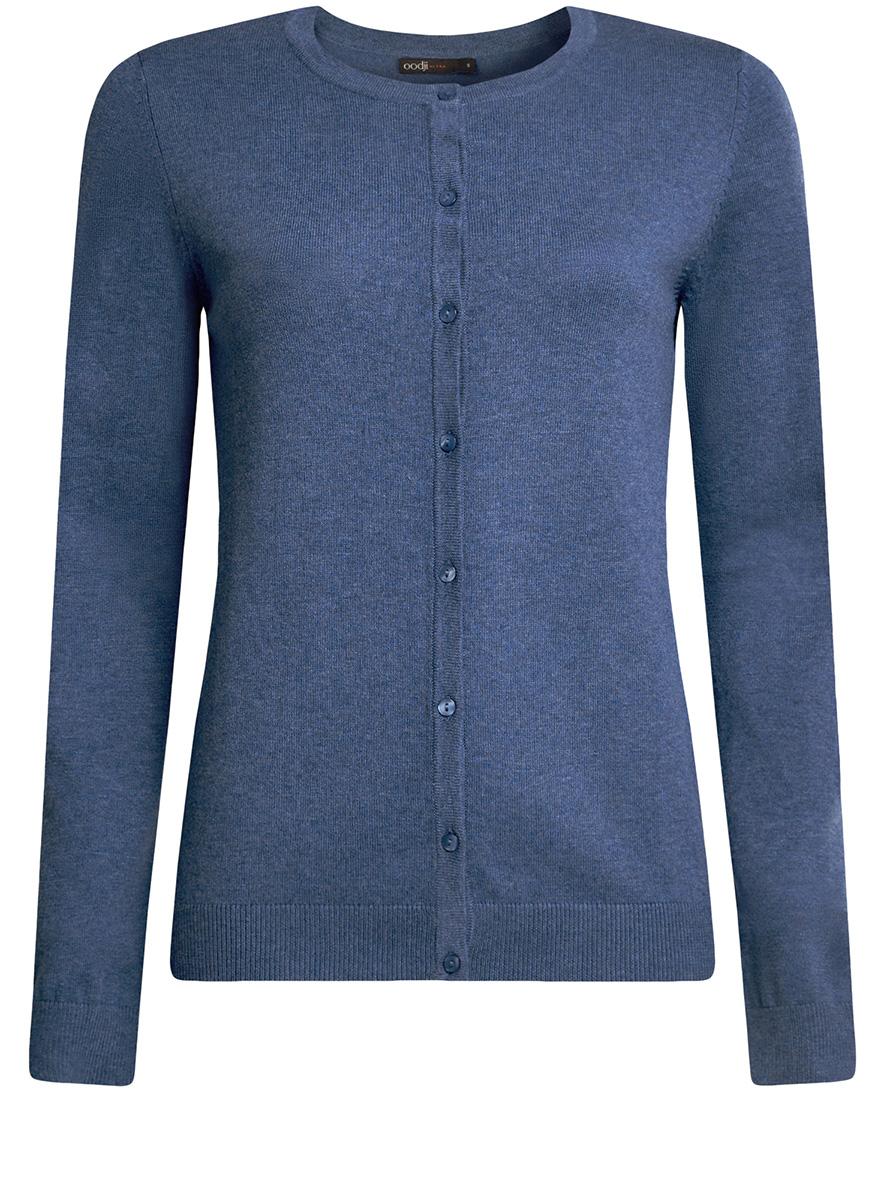 Жакет женский oodji Ultra, цвет: синий меланж. 63212568B/45642/7500M. Размер XXS (40)