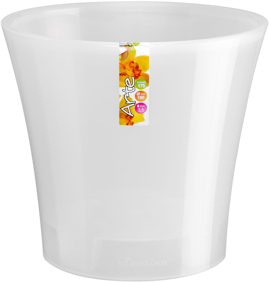 Горшок цветочный Santino Арте, двойной, с системой автополива, цвет: прозрачный, 3,5 лАРТ 3,5 П-ПГоршок цветочный Santino Арте снабжен дренажной системой и состоит из кашпо и вазона-вкладыша. Изготовлен из пластика. Особенность: тарелочка или блюдце не нужны. Горшок предназначен для любых растений или цветов. Цветочный дренаж – это система, которая позволяет выводить лишнюю влагу через корневую систему цветка и слой почвы. Растение – это живой организм, следовательно, ему необходимо дышать. В доступе к кислороду нуждаются все части растения: -листья; -корневая система. Если цветовод по какой-либо причине зальет цветок водой, то она буквально вытеснит из почвенного слоя все пузырьки кислорода. Анаэробная среда способствует развитию различного рода бактерий. Безвоздушная среда приводит к загниванию корневой системы, цветок в результате увядает. Суть работы дренажной системы заключается в том, чтобы осуществлять отвод лишней влаги от растения и давать возможность корневой системе дышать без проблем. Следовательно, каждому цветку необходимо: -иметь в основании цветочного горшочка хотя бы одно небольшое дренажное отверстие. Оно необходимо для того, чтобы через него выходила лишняя вода, плюс ко всему это отверстие дает возможность циркулировать воздух. -на самом дне горшка необходимо выложить слоем в 2-5 см (зависит от вида растения) дренаж.УВАЖАЕМЫЕ КЛИЕНТЫ!Обращаем ваше внимание на тот факт, что фото изделия служит для визуального восприятия товара. Литраж и размеры, представленные на этикетке товара, могут по факту отличаться от реальных. Корректные данные в поле Размеры.