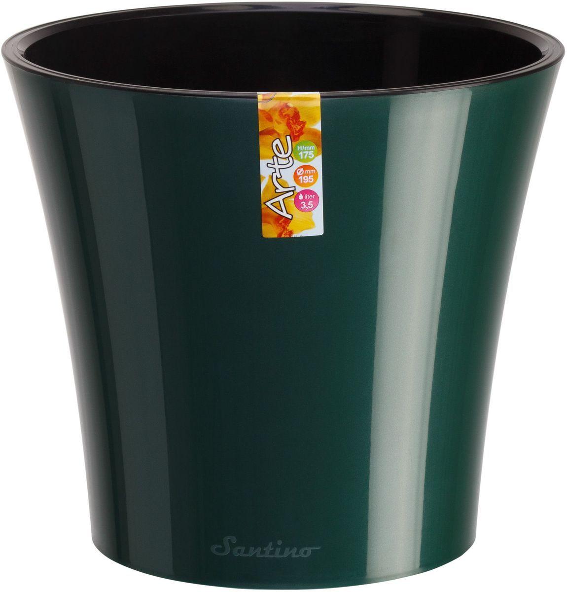 Горшок цветочный Santino Арте, двойной, с системой автополива, цвет: зеленый, черный, 5 лАРТ 5 ЗЕЛ-ЧЛюбой, даже самый современный и продуманный интерьер будет незавершенным без растений. Они не только очищают воздух и насыщают его кислородом, но и украшают окружающее пространство. Такому полезному члену семьи просто необходим красивый и функциональный дом! Оптимальный выбор материала — пластмасса! Почему мы так считаем? Малый вес. С легкостью переносите горшки и кашпо с места на место, ставьте их на столики или полки, не беспокоясь о нагрузке. Простота ухода. Кашпо не нуждается в специальных условиях хранения. Его легко чистить — достаточно просто сполоснуть теплой водой. Никаких потертостей. Такие кашпо не царапают и не загрязняют поверхности, на которых стоят. Пластик дольше хранит влагу, а значит, растение реже нуждается в поливе. Пластмасса не пропускает воздух — корневой системе растения не грозят резкие перепады температур. Огромный выбор форм, декора и расцветок — вы без труда найдете что-то, что идеально впишется в уже существующий интерьер. Соблюдая нехитрые правила ухода, вы можете заметно продлить срок службы горшков и кашпо из пластика: всегда учитывайте размер кроны и корневой системы (при разрастании большое растение способно повредить маленький горшок) берегите изделие от воздействия прямых солнечных лучей, чтобы горшки не выцветали держите кашпо из пластика подальше от нагревающихся поверхностей. Создавайте прекрасные цветочные композиции, выращивайте рассаду или необычные растения.