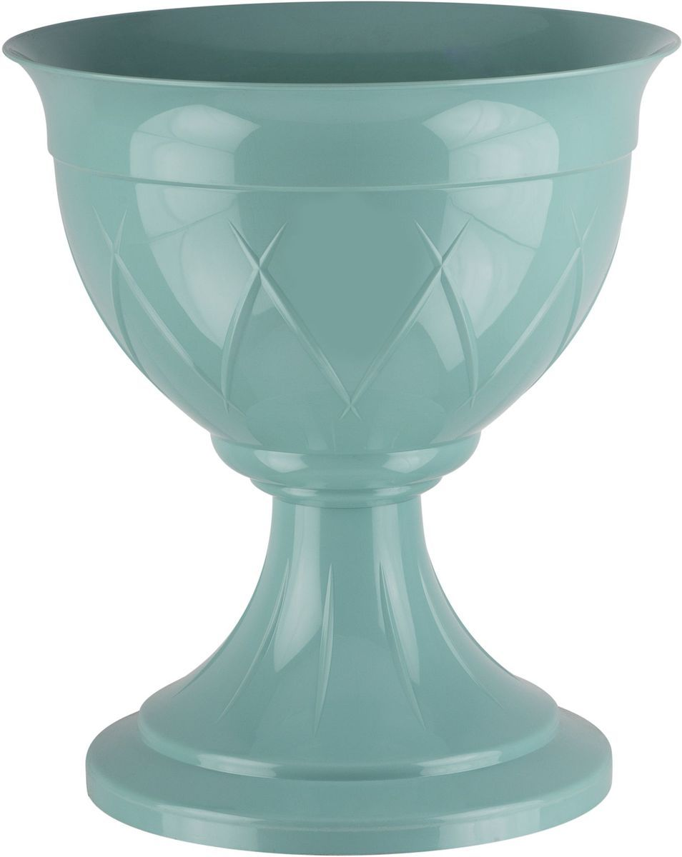 Горшок цветочный Santino Лилия, на ножке, цвет: нефрит, 6 лЛН 6 НЕФГоршок на ножке Santino Лилия изготовлен из прочного пластика. Изделие предназначено для выращивания цветов и других растений, как в домашних условиях, так и на улице.