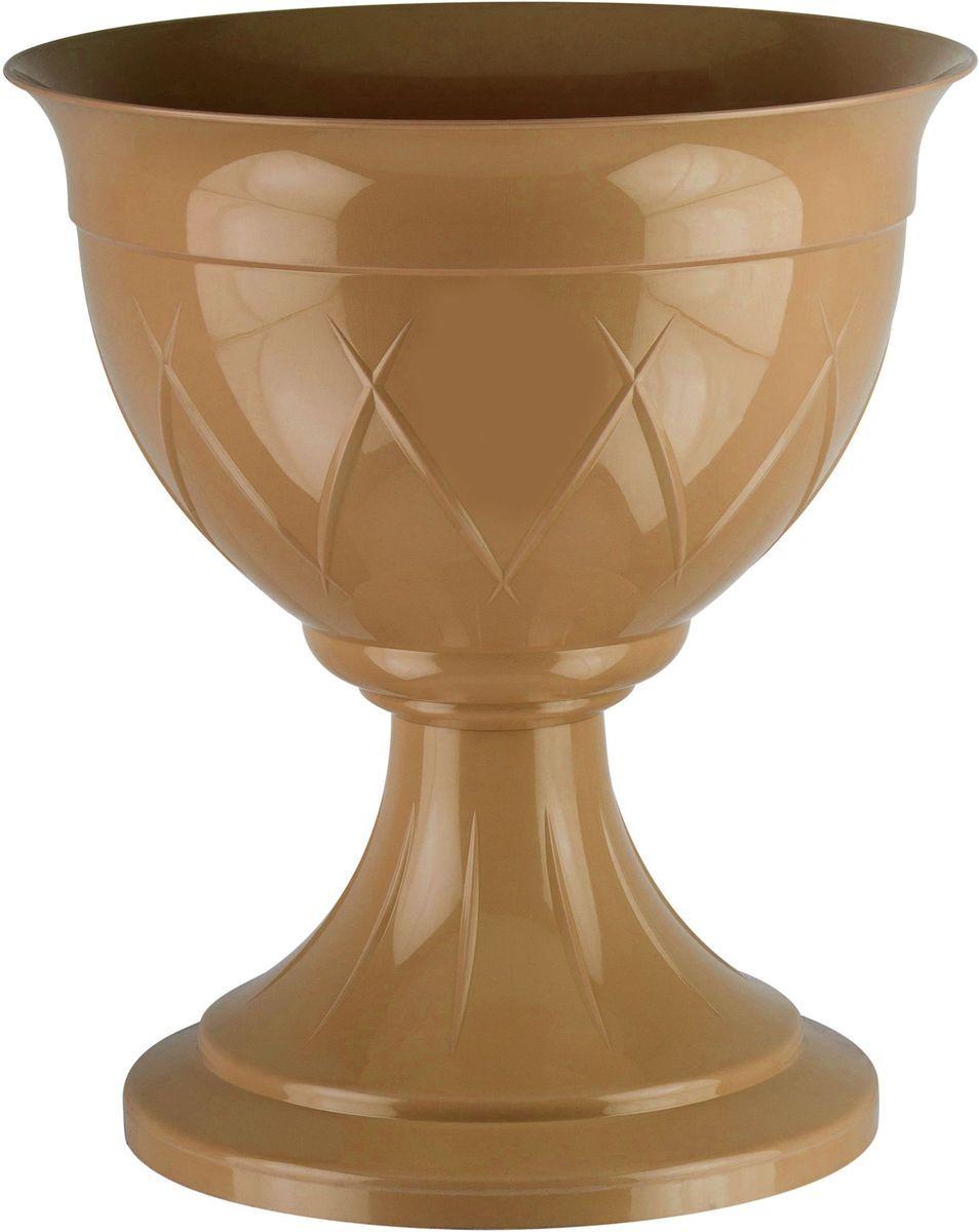 Горшок цветочный Santino Лилия, на ножке, цвет: золотой, 9 лЛН 9 ЗОЛГоршок на ножке Santino Лилия изготовлен из прочного пластика. Изделие предназначено для выращивания цветов и других растений, как в домашних условиях, так и на улице.