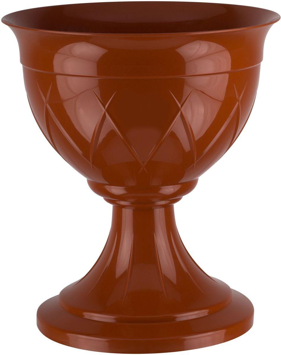 Горшок цветочный Santino Лилия, на ножке, цвет: терракотовый, 14 лЛН 14 ТЕРГоршок на ножке Santino Лилия изготовлен из прочного пластика. Изделие предназначено для выращивания цветов и других растений, как в домашних условиях, так и на улице.