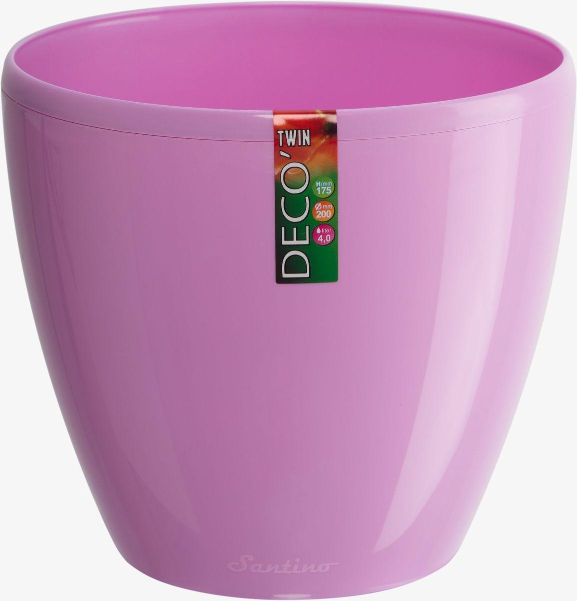 Горшок цветочный Santino Deco Twin, двойной, с системой автополива, цвет: лаванда, 2,5 лМ 3009Горшок цветочный Santino Deco Twin снабжен дренажной системой и состоит из кашпо и вазона-вкладыша. Изготовлен из пластика.Особенность: тарелочка или блюдце не нужны.Горшок предназначен для любых растений или цветов.Цветочный дренаж – это система, которая позволяет выводить лишнюю влагу через корневую систему цветка и слой почвы. Растение – это живой организм, следовательно, ему необходимо дышать. В доступе к кислороду нуждаются все части растения:-листья;-корневая система.Если цветовод по какой-либо причине зальет цветок водой, то она буквально вытеснит из почвенного слоя все пузырьки кислорода. Анаэробная среда способствует развитию различного рода бактерий. Безвоздушная среда приводит к загниванию корневой системы, цветок в результате увядает.Суть работы дренажной системы заключается в том, чтобы осуществлять отвод лишней влаги от растения и давать возможность корневой системе дышать без проблем. Следовательно, каждому цветку необходимо:-иметь в основании цветочного горшочка хотя бы одно небольшое дренажное отверстие. Оно необходимо для того, чтобы через него выходила лишняя вода, плюс ко всему это отверстие дает возможность циркулировать воздух.-на самом дне горшка необходимо выложить слоем в 2-5 см (зависит от вида растения) дренаж.УВАЖАЕМЫЕ КЛИЕНТЫ!Обращаем ваше внимание на тот факт, что фото изделия служит для визуального восприятия товара. Литраж и размеры, представленные на этикетке товара, могут по факту отличаться от реальных. Корректные данные в поле Размеры.