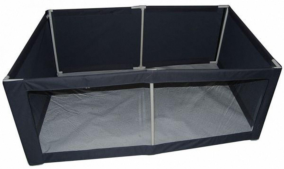 Вольер-манеж для животных Заря-Плюс, выставочный, разборный, цвет: темно-серый, 150 х 100 х 60 см вольер тент для собак 92 см х 92 см 43 см