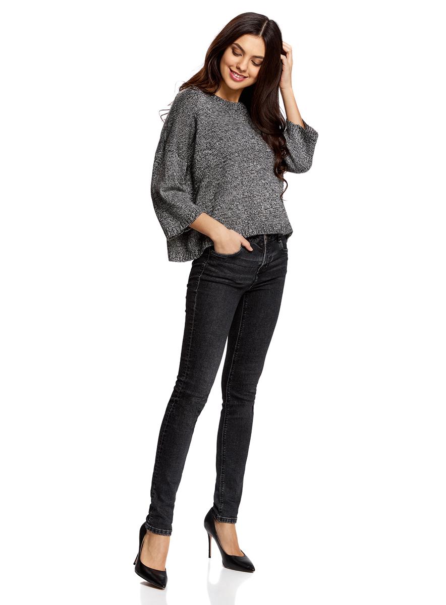 Джемпер женский oodji Ultra, цвет: черный. 63805298/46394/2912M. Размер S (44) джемпер женский oodji ultra цвет белый 63807310 18941 1200n размер m 46