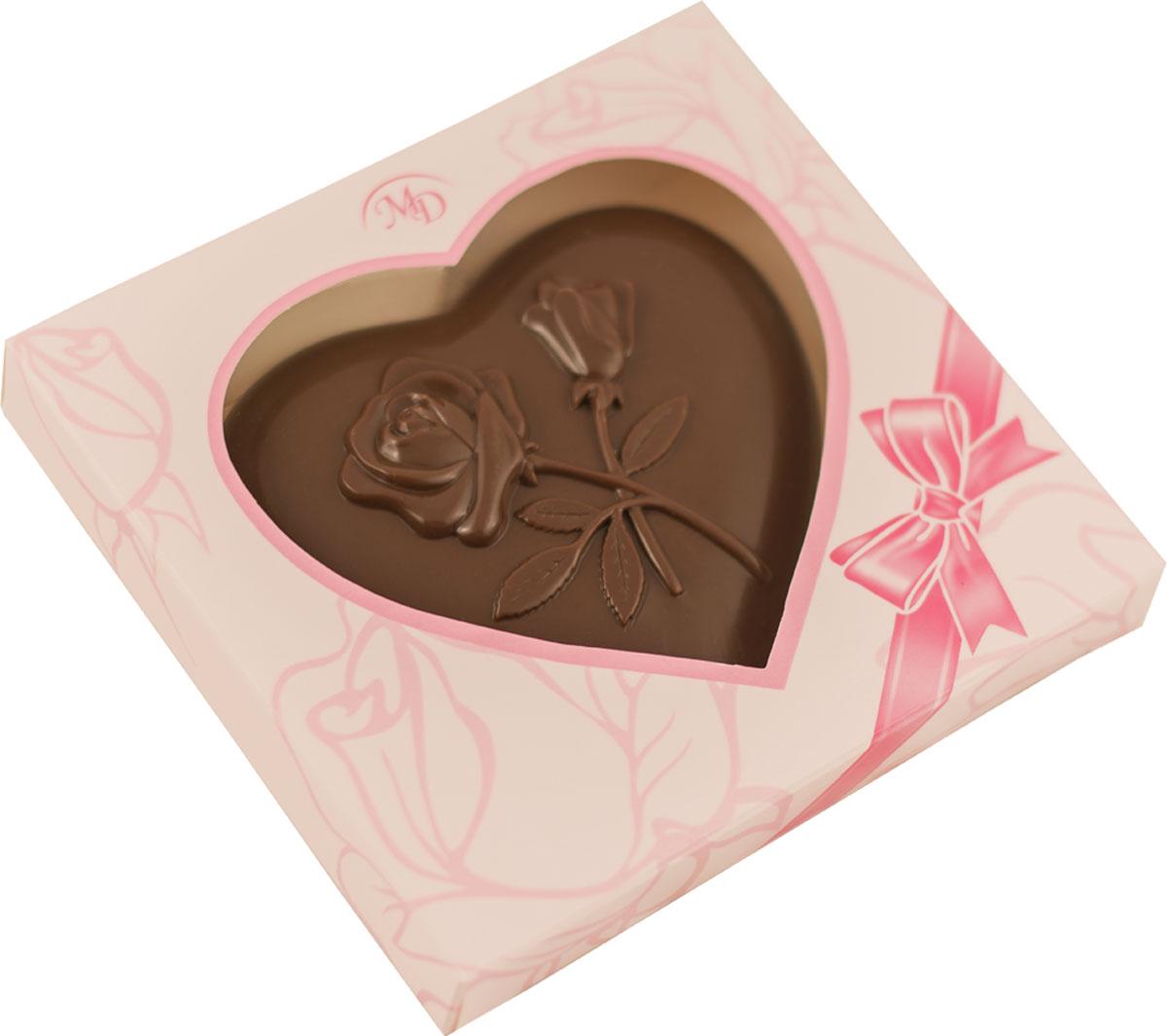 Монетный двор Сердце шоколадная фигура, 100 г монетный двор постный набор горький шоколад 60% какао 50 г