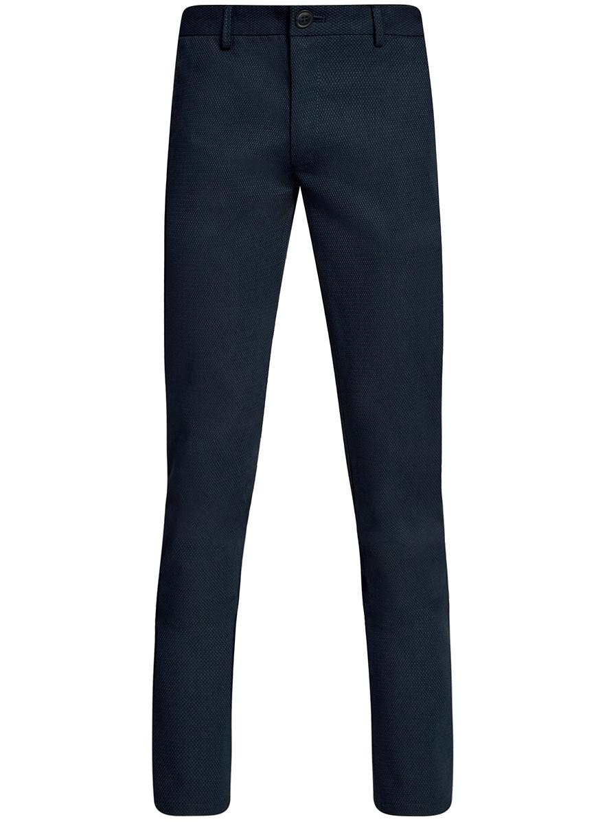 Брюки мужские oodji Lab, цвет: темно-синий. 2L200163M/46309N/7900O. Размер 42-182 (50-182) пиджак мужской oodji lab цвет темно синий 2l410201m 47076n 7900o размер 48 182