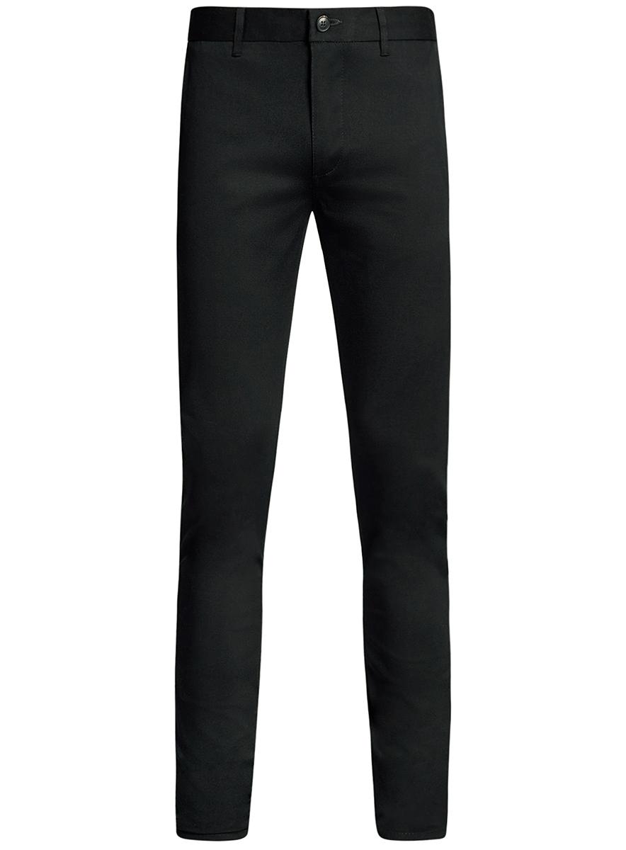 Брюки мужские oodji Basic, цвет: черный. 2B200015M/21822N/2900N. Размер 44-182 (52-182)2B200015M/21822N/2900NМужские брюки oodji Basic выполнены из высококачественного материала. Модель-чинос стандартной посадки застегивается на пуговицу в поясе и ширинку на застежке-молнии. Пояс имеет шлевки для ремня. Спереди брюки дополнены втачными карманами, сзади - прорезными.