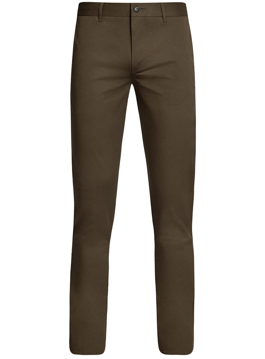 Брюки мужские oodji Basic, цвет: коричневый. 2B200015M/21822N/3700N. Размер 44-182 (52-182)2B200015M/21822N/3700NМужские брюки oodji Basic выполнены из высококачественного материала. Модель-чинос стандартной посадки застегивается на пуговицу в поясе и ширинку на застежке-молнии. Пояс имеет шлевки для ремня. Спереди брюки дополнены втачными карманами, сзади - прорезными.