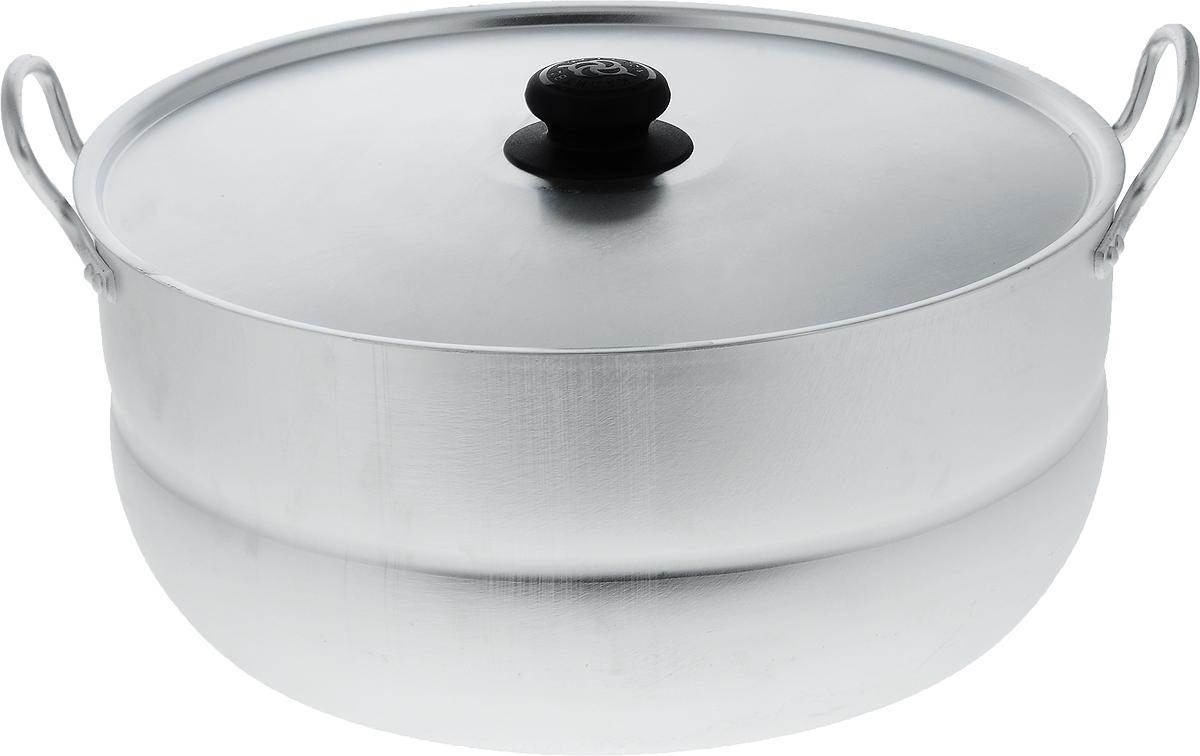 Кастрюля Kalitva с крышкой, 13 л1130Кастрюля Kalitva, выполненная из литого алюминия, позволит вам приготовить вкуснейшие блюда. Благодаря хорошей теплопроводности алюминия, молоко или вода закипают в нем быстрее, чем в эмалированных кастрюлях. Изделие оснащено крышкой и удобными ручками.Данная кастрюля отличается долговечностью и легкостью. Подходит для газовых, электрических и стеклокерамических плит.Высота стенки: 15,5 см. Ширина кастрюли (с учетом ручек): 40 см. Диаметр кастрюли (по верхнему краю): 34,5 см.