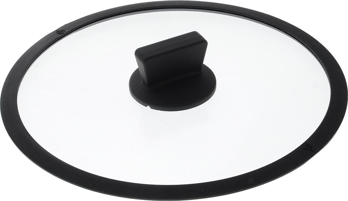 Крышка стеклянная Dosh l Home  ERIDANUS , с силиконовым ободком. Диаметр 28 см - Посуда для приготовления