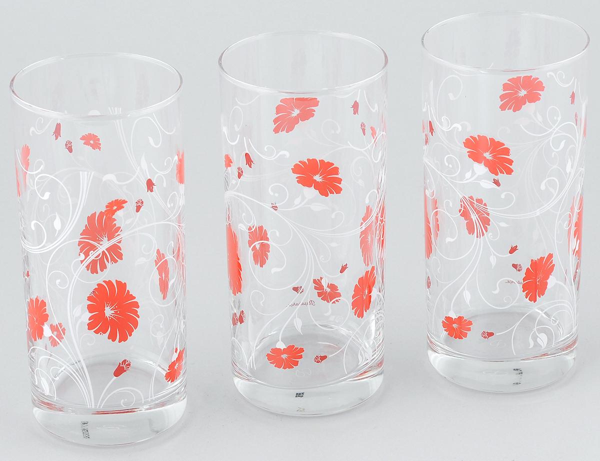 Набор стаканов Pasabahce Workshop Serenade, цвет: красный, 287 мл, 3 шт42402B/D5Набор Pasabahce Workshop Serenade, выполненный из закаленного натрий-кальций-кальций-силикатного стекла, состоит из трех стаканов. Изделия украшены цветочным узором и прекрасно подойдут для подачи холодных напитков. Их оценят как любители классики, так и те, кто предпочитает современный дизайн.Набор идеально подойдет для сервировки стола и станет отличным подарком к любому празднику. Диаметр стакана (по верхнему краю): 6 см. Высота стакана: 13,5 см.