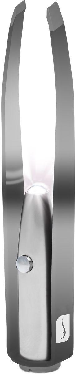 Flo Маникюрные щипцы Led Illuminating Tweezers, с LED-фонариком, цвет: черныйFP-810-601BИзготовлено из прочной нержавеющей стали. В пинцет встроена яркая светодиодная лампа. Можно провозить в ручной клади.Способ применения: Снимите защитный пластик на кнопке используйте фонарик для подсвечивания самых тонких волосков.Состав: Аллюминий, сталь, светодиодная лампа.