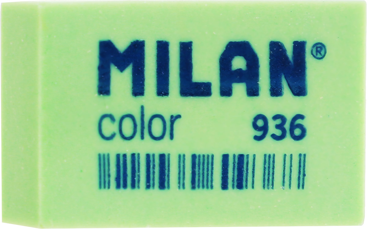 Milan Ластик Color 936 прямоугольный цвет зеленыйCPM936_зелёныйЛастик Milan Color 936 предназначен для графитовых карандашей и перманентных чернил из цветного пластика.Наиболее эффективный для точного и аккуратного удаления контуров и штрихов, сделанных твердыми карандашами.