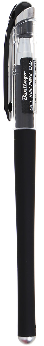 Berlingo Ручка гелевая Ultra цвет черныйCGp_50021Лаконичная гелевая ручка Berlingo Ultra с колпачком и клипом имеет стильный дизайн.Цвет корпуса соответствует цвету чернил. Диаметр пишущего узла - 0,5 мм.