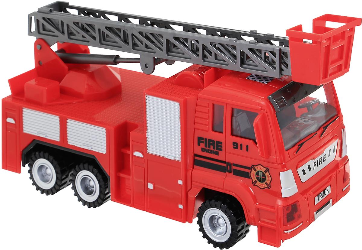 ABtoys Пожарная машина инерционная машина пламенный мотор volvo v70 пожарная охрана 870189
