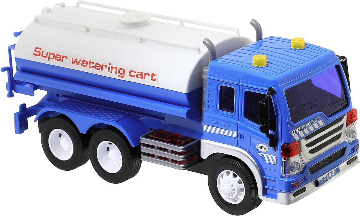 Dave Toy Водовоз инерционный машинки hti паровозик roadsterz синий с вагоном звуковыми и световыми эффектами