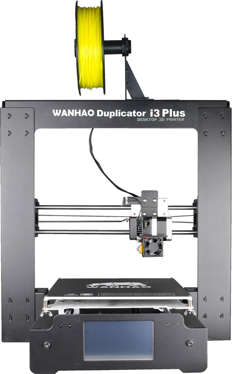 Wanhao Duplicator i3 Plus 3D принтерBi3/V+3D принтер Wanhao Duplicator i3 Plus от китайской компании Wanhao представляет дальнейшее развитие популярной модели Wanhao Duplicator i3.Данная модель оснащенаодним экструдером МК10, который имеет сопло диаметром 0,4 мм. Платформа устройства подогревается, а для большей простоты и комфорта оператора имеется встроенный дисплей с сенсорным экраном 3.25.Принтер имеет кабель экструдера, применяемый а ЧПУ-станках. Параметры области построения принтера: 200 х 200 х 180 мм. Для повышения стабильности печати и предотвращения вибраций экструдера во время работы в устройстве установлены 3 подшипника скольжения на экструдер.Диаметр сопла печатающей головки: 0.4 ммМаксимальная скорость печати: 10-70 мм/сДиаметр нити: 1,75 ммСтруйный или лазерный принтер: какой лучше? Статья OZON Гид
