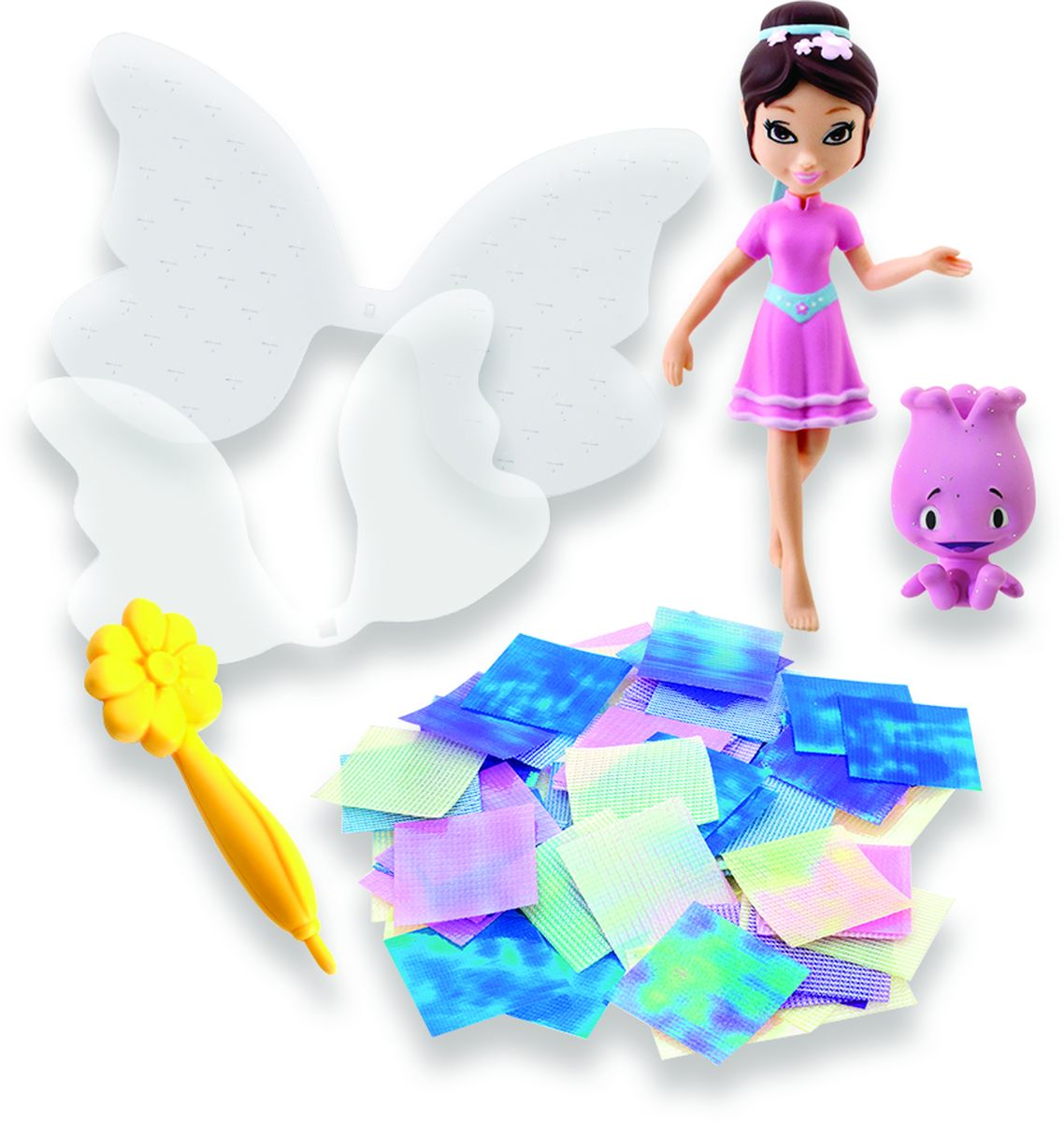 Shimmer Wing Игровой набор с мини-куклами Букетик и Тюльпан игровой набор волшебный дворец shimmer