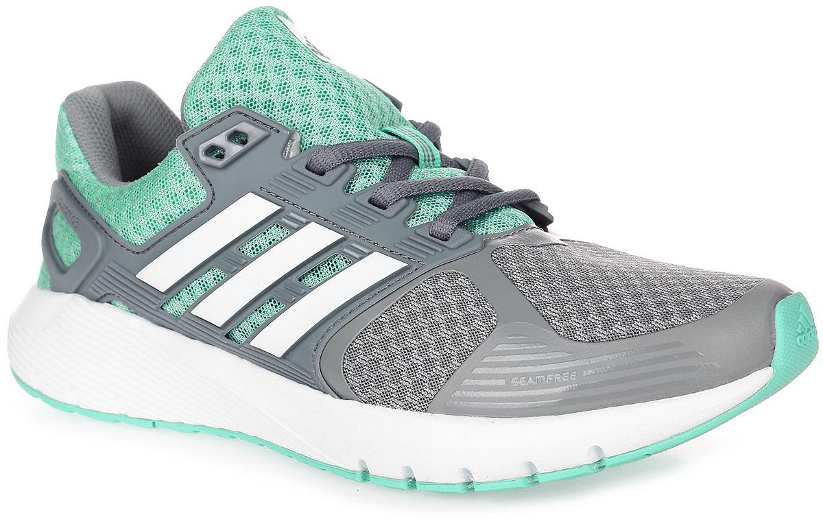 Кроссовки для бега женские adidas Duramo 8, цвет: серый, светло-бирюзовый. BB4675. Размер 4,5 (36,5)BB4675Женские кроссовки для бега adidas Duramo 8 выполнены из сетчатого текстиля и оформлены накладками из полимера. Шнурки надежно зафиксируют модель на ноге. Внутренняя поверхность из сетчатого текстиля комфортна при движении. Стелька выполнена из легкого ЭВА-материала с поверхностью из текстиля. Подошва изготовлена из высококачественной легкой резины и оснащена технологией Cloudfoam для поглощения ударных нагрузок и комфортной посадки без разнашивания. Поверхность подошвы дополнена рельефным рисунком.
