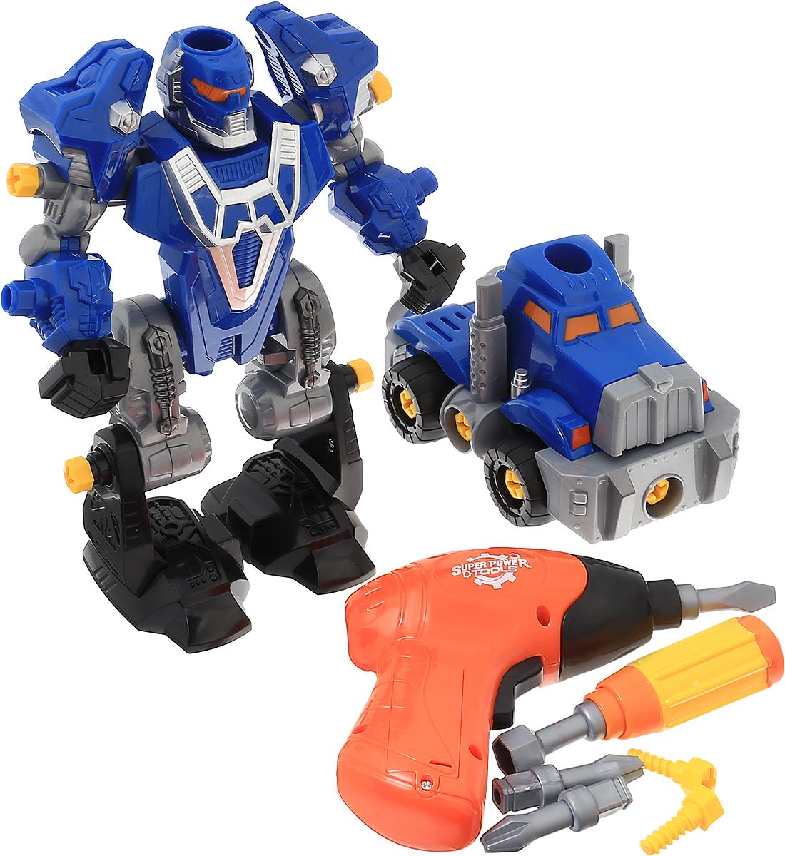 ABtoys Робот-трансформер 3 в 1 цвет синий серый