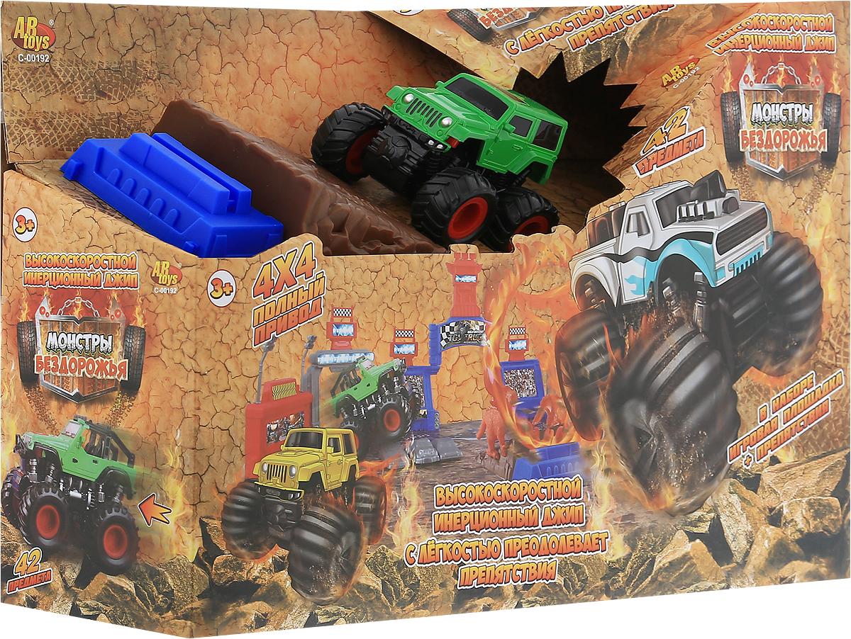 ABtoys Игрушечный трек Монстры бездорожья 42 предмета abtoys игрушечный музыкальный руль цвет черный желтый красный
