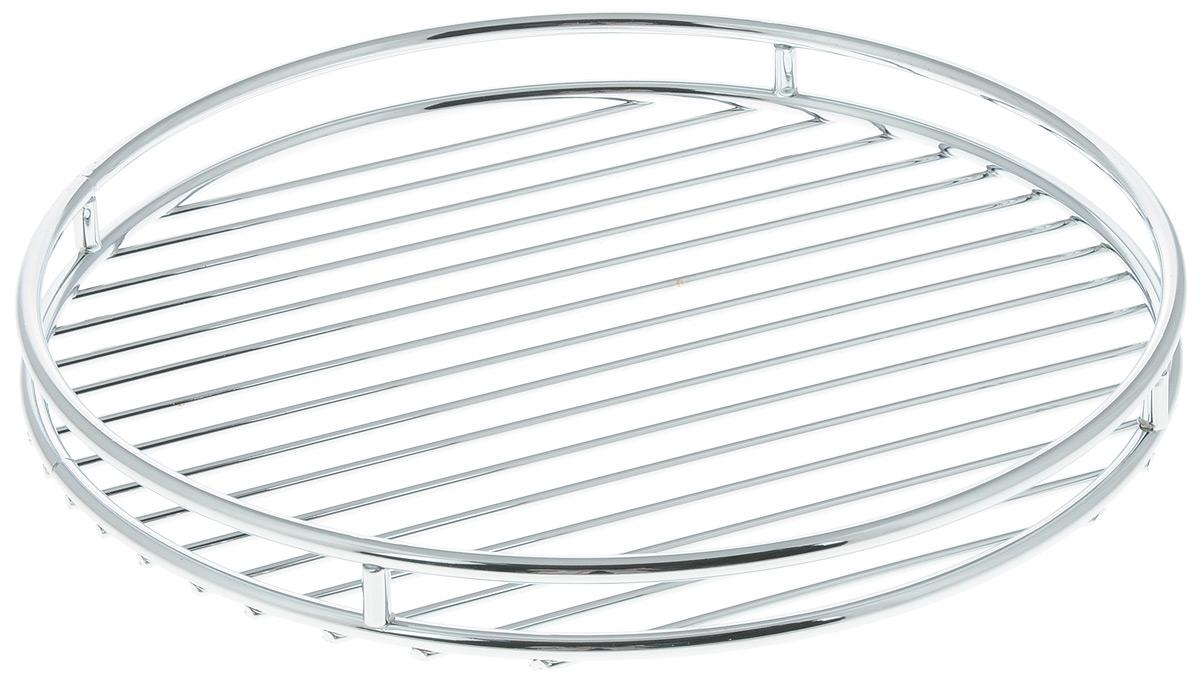 """Подставка под горячее Tescoma """"Monti"""" выполнена из  нержавеющей стали с хромовым покрытием. Благодаря  стильному дизайну идеально впишется в интерьер  современной кухни.  Каждая хозяйка знает, что подставка под горячее - это  незаменимый и очень полезный аксессуар на каждой  кухне. Ваш стол будет не только украшен оригинальной  подставкой, но и сбережен от воздействия высоких  температур ваших кулинарных шедевров. Диаметр подставки: 24 см.  Высота подставки: 2,5 см."""