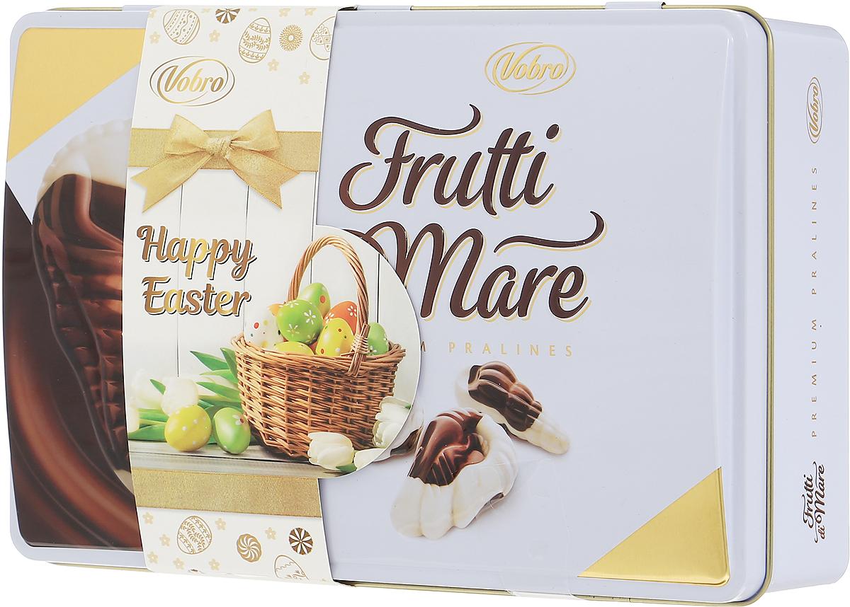 Vobro Frutti di Mare набор шоколадных конфет в виде морских ракушек, 350 г (жестяная коробка)