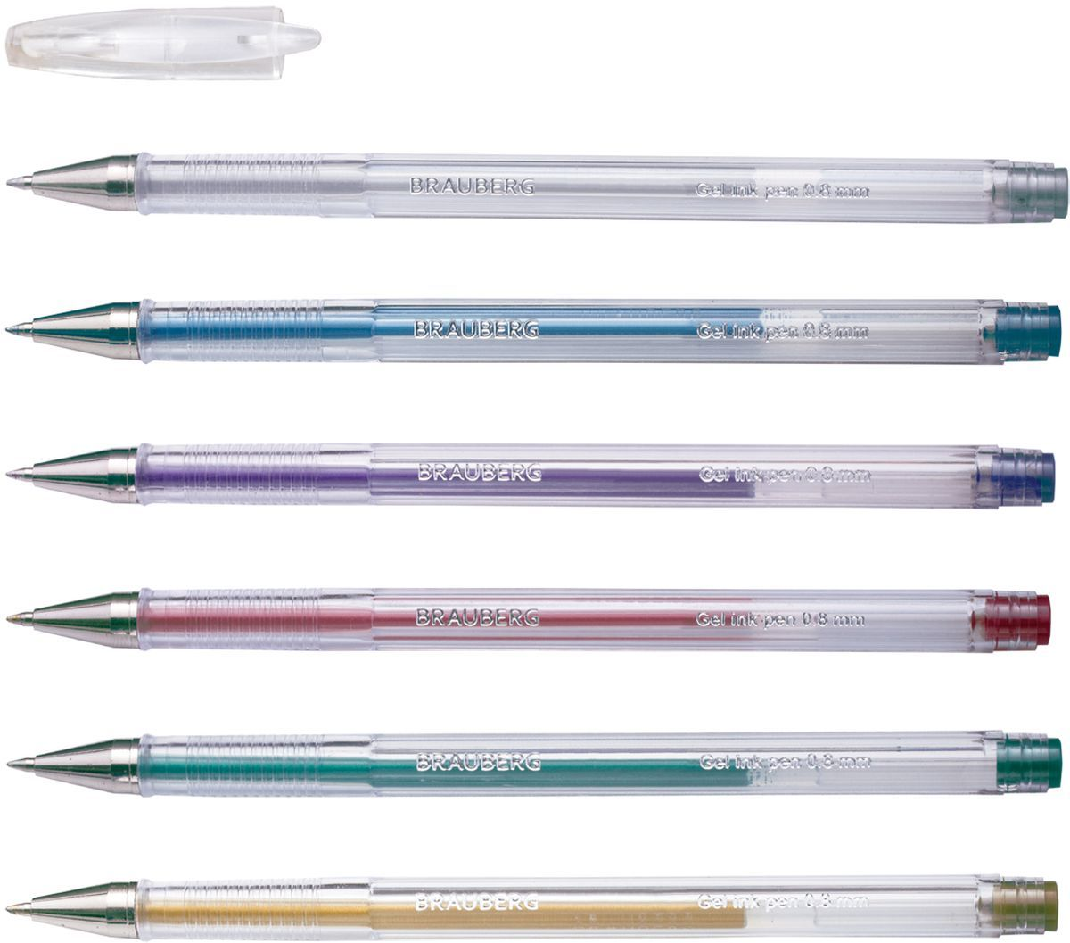 Brauberg Набор гелевых ручек Jet металлик 6 шт141029Набор Brauberg Jet включает в себя гелевые ручки ярких, запоминающихся, необычных цветов. Рекомендован для детского творчества. Ручки упакованы в мягкий пластиковый футляр.