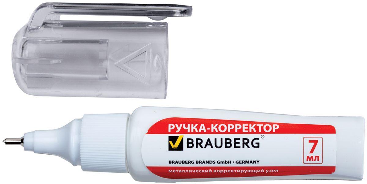 Brauberg Ручка-корректор Energy 7 мл222058Ручка-корректор Brauberg предназначена для наиболее аккуратного и точного исправления печатного и рукописного текста. Надежный металлический наконечник обеспечивает экономичный расход корректирующей жидкости.