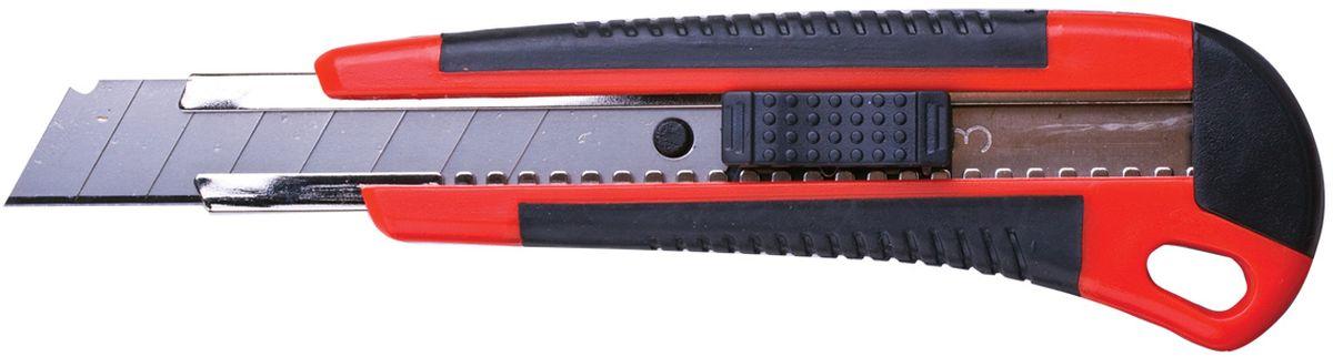 Brauberg Нож канцелярский 18 мм с 2 лезвиями230919Универсальный канцелярский нож Brauberg предназначен как для резки бумаги, картона, так и для работы с более плотными материалами. Удобная ручка обеспечивает комфортное использование с максимальной безопасностью. Резиновые вставки на рукоятке препятствуют скольжению. Роликовый фиксатор позволяет прочно закреплять лезвие в корпусе.Ширина лезвия 18 мм.В набор входят 2 запасных лезвия.Уважаемые клиенты!Обращаем ваше внимание на цветовой ассортимент товара. Поставка осуществляется в зависимости от наличия на складе.