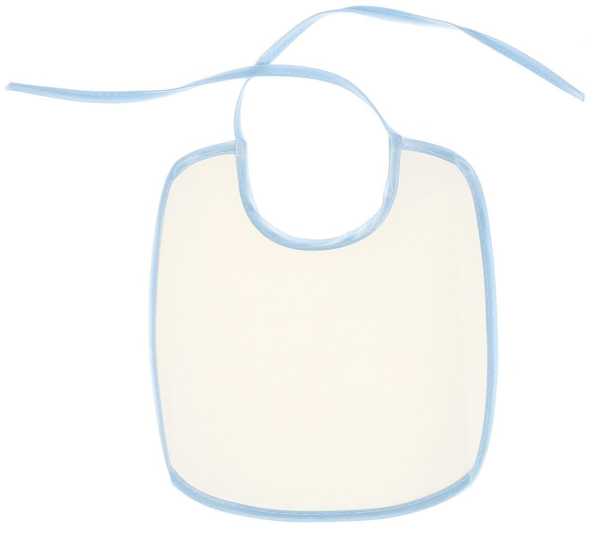 Колорит Нагрудник цвет белый светло-голубой 20 х 22 см