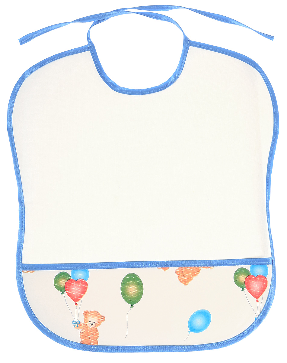 Колорит Нагрудник Мишки с шариками цвет белый 33 х 33 см
