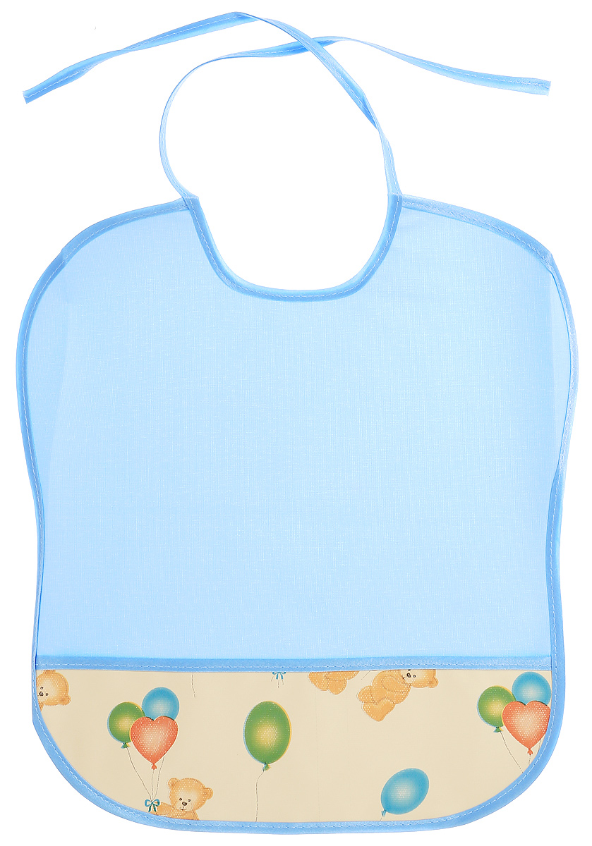 Колорит Нагрудник Мишки с шариками цвет голубой желтый 33 х 33 см колорит нагрудник с карманом цвет желтый оранжевый 33 см х 33 см