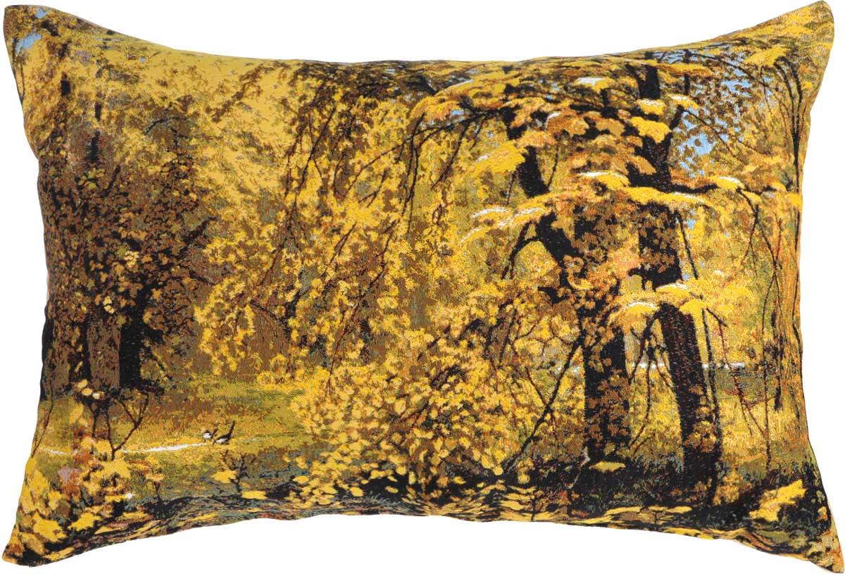 Подушка декоративная Рапира Осень Ильи Остроухова, 45 х 67 см4702Декоративная подушка Рапира Осень Ильи Остроухова изготовлена из хлопка и полиэфира. Изделие очень прочное и нежное на ощупь. Лицевая сторона подушки имеет яркий рисунок. Чехол подушки снабжен удобной молнией. Такая подушка станет приятным дополнением к интерьеру любой комнаты.Размер подушки: 45 х 67 см.