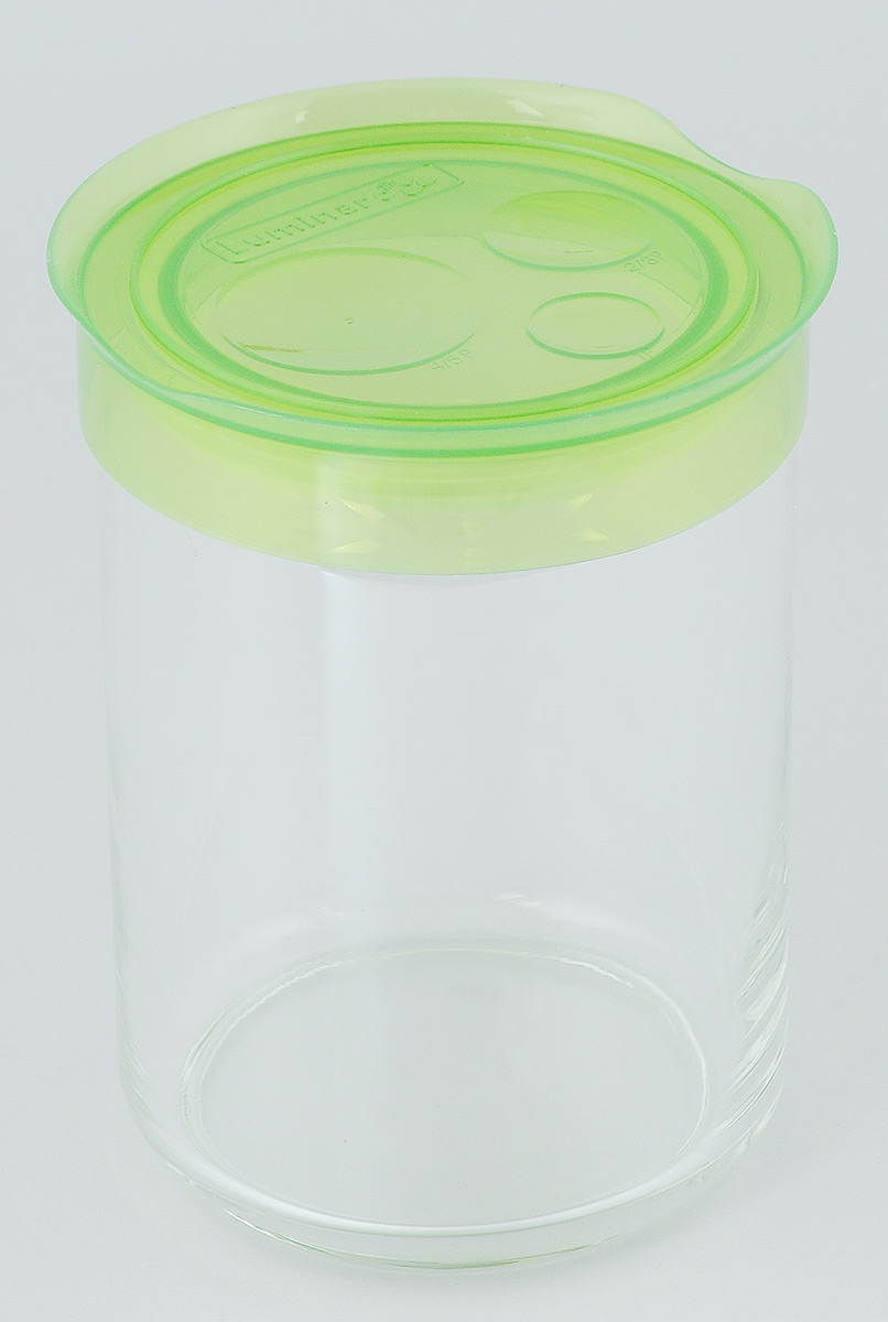 Банка для сыпучих продуктов Luminarc Storing Box, с крышкой, цвет: светло-зеленый, 1 лJ2257Банка Luminarc Storing Box, выполненная из высококачественного стекла, станет незаменимым помощником на кухне. В ней будет удобно хранить разнообразные сыпучие продукты, такие как кофе, сахар, соль или специи. Прозрачная банка позволит следить, что и в каком количестве находится внутри. Банка надежно закрывается пластиковой крышкой, которая снабжена резиновым уплотнителем для лучшей фиксации. Такая банка не только сэкономит место на вашей кухне, но и украсит интерьер.Объем: 1 л.Диаметр банки (по верхнему краю): 9 см.Высота банки (без учета крышки): 14,5 см.