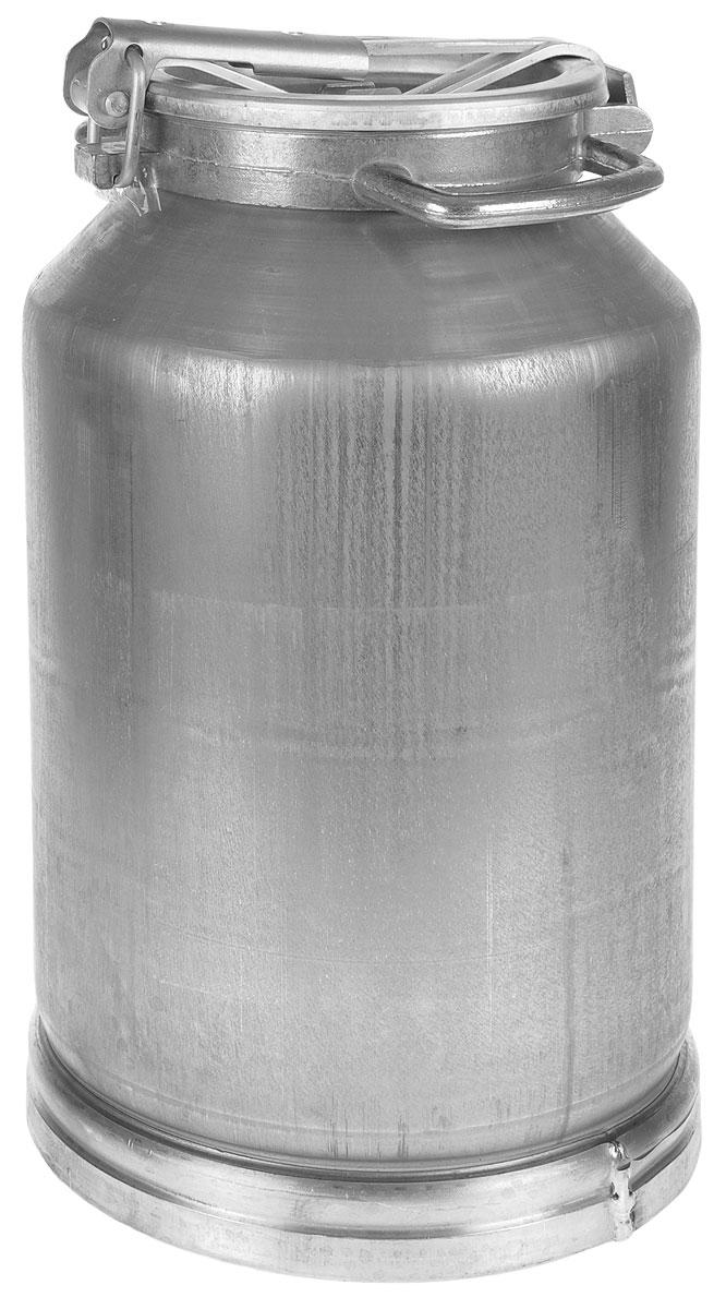 Фляга изготовлена из высококачественного листового алюминия. Изделие предназначено для транспортировки молока и молочных продуктов.  Фляга имеет прочные стенки, что не маловажно при перевозке содержимого. Изделие снабжено удобной крышкой с резиновой прокладкой.  Объем: 25 л. Диаметр основания фляги: 28 см. Высота фляги: 49 см. Диаметр горлышка фляги: 17 см.