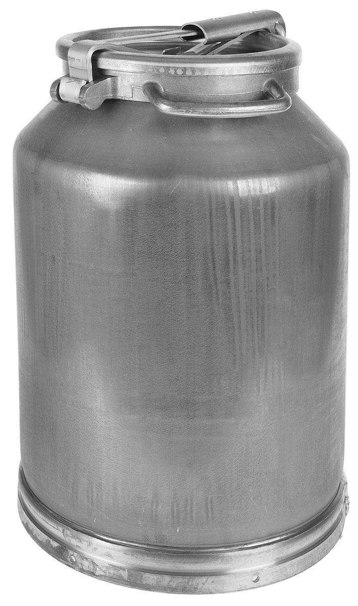Фляга изготовлена из высококачественного листового алюминия. Изделие предназначено для транспортировки или хранения молока и молочных продуктов.  Фляга имеет прочные стенки, что не маловажно при перевозке содержимого. Изделие снабжено удобной крышкой с резиновой прокладкой.  Объем: 40 л. Диаметр основания фляги: 35 см. Высота фляги: 54 см. Диаметр горлышка фляги: 22 см.