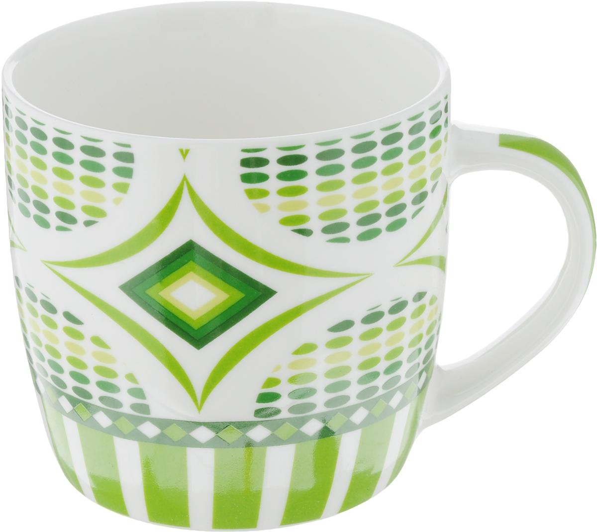 "Кружка ""Loraine"", цвет: белый, зеленый, салатовый, 320 мл. 24475"
