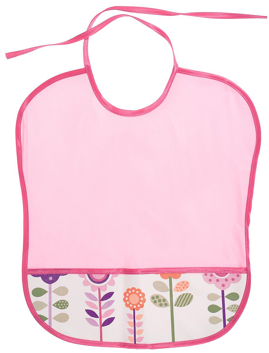 Колорит Нагрудник Цветы цвет розовый малиновый 33 х 33 см колорит нагрудник с карманом цветы цвет желтый белый 33 х 33 см
