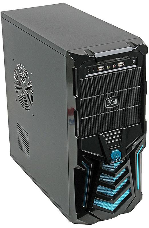 3Cott Gladiator, Blue компьютерный корпус (3C-ATX110GB)3C-ATX110GBКорпус 3Cott Gladiator – отличная основа для сборки игровой системы начального уровня.Агрессивный дизайн передней панели, стилизованной под гладиаторский шлем, с декоративными синими решетками и крупной, расположенной по центру кнопкой включения, сочетается с продуманной системой отвода тепла и блоком питания на 500 Вт, позволяющими использовать высокопроизводительные комплектующие. В результате вы получаете корпус, радующий внешним видом и способный выдержать высокие игровые нагрузки.Выполненный в типоразмере MidiTower, данный корпус позволяет собирать компьютеры на базе материнских плат форм-фактора ATX. Боковая панель имеет большую вентиляционную решетку. Хорошая циркуляция воздуха обеспечивается вентиляционными отверстиями боковой и задней панелей.