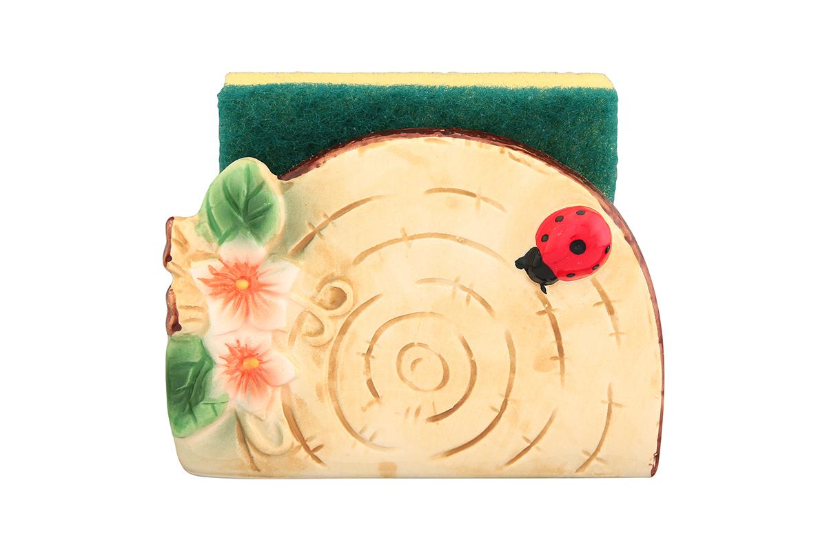 Подставка для губки Elan Gallery Бревнышко, с губкой, 11,5 х 5,5 х 8 см110734Подставка для губки Elan Gallery Бревнышко - это яркий и полезный аксессуар для кухни. Изделие выполнено из керамики.Оригинальная подставка для губки привнесет в интерьер вашей кухни уют, а вам подарит прекрасное настроение. Губка в комплекте.