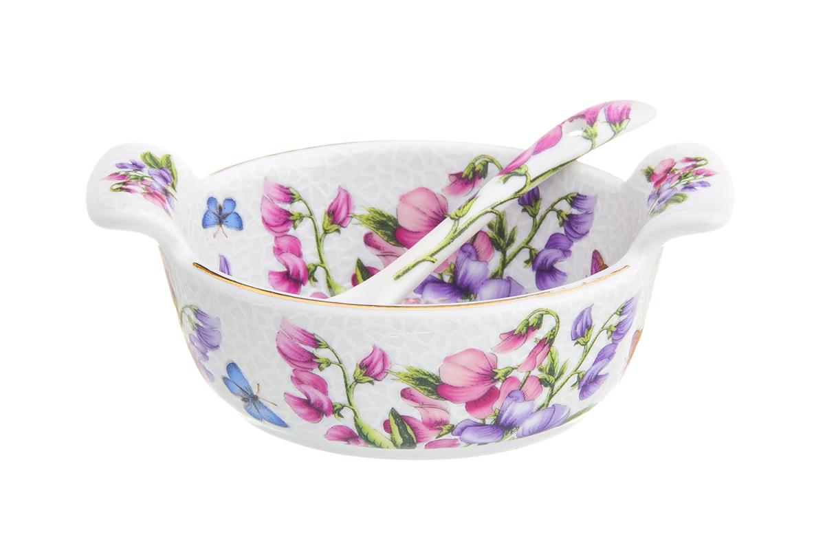 Солонка-кадушка Elan Gallery Душистый цветок, с ложкой, 100 мл180712Солонка-кадушка для специй с крышкой и ложечкой в комплекте может использоваться как солонка или как соусница. Миниатюрная, изящная украсит Вашу сервировку в повседневной жизни. Изделие имеет подарочную упаковку, поэтому станет желанным подарком для Ваших близких!Размер солонки: 11,5 х 7,5 х 4,5 см.Объем солонки: 100 мл.
